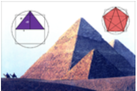 The Giza Pyramids: three different ways to equate the circle (spirit and square (body).